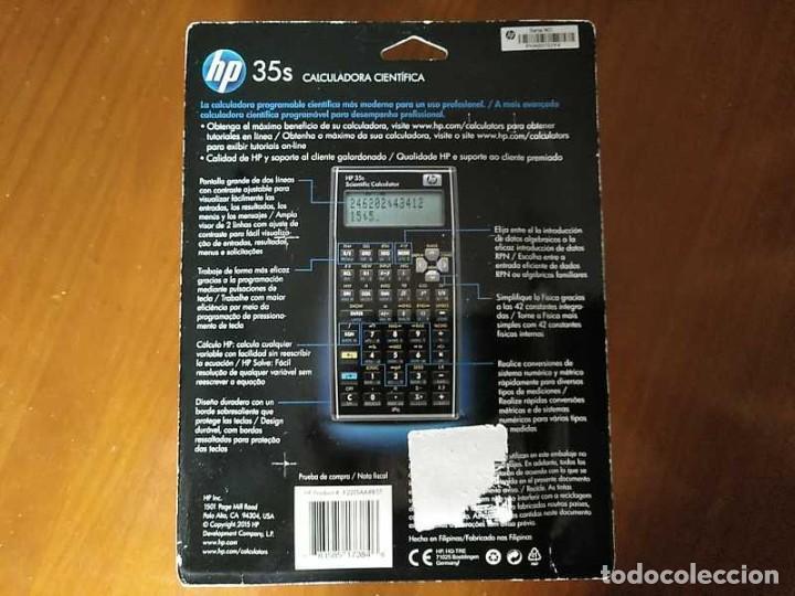 Antigüedades: HP 35S RPN CALCULADORA CIENTÍFICA HEWLETT PACKARD HP-35S PROGRAMABLE EN BLISTER SIN ABRIR SCIENTIFIC - Foto 3 - 268752579