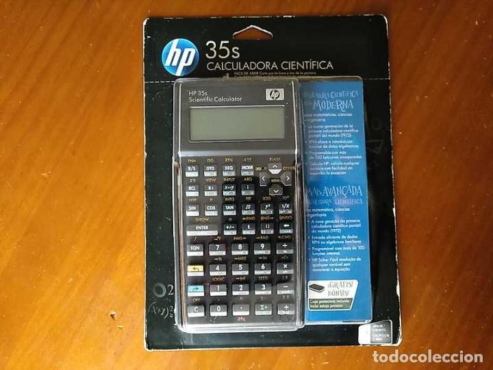 Antigüedades: HP 35S RPN CALCULADORA CIENTÍFICA HEWLETT PACKARD HP-35S PROGRAMABLE EN BLISTER SIN ABRIR SCIENTIFIC - Foto 4 - 268752579