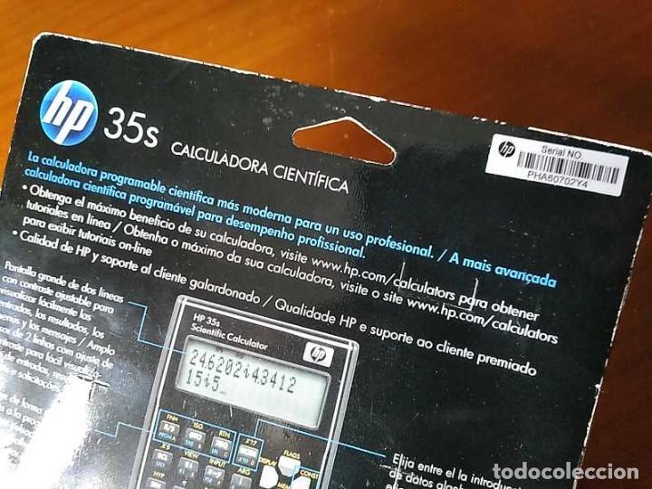 Antigüedades: HP 35S RPN CALCULADORA CIENTÍFICA HEWLETT PACKARD HP-35S PROGRAMABLE EN BLISTER SIN ABRIR SCIENTIFIC - Foto 10 - 268752579