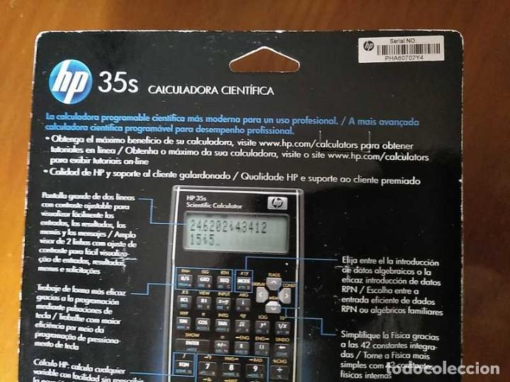 Antigüedades: HP 35S RPN CALCULADORA CIENTÍFICA HEWLETT PACKARD HP-35S PROGRAMABLE EN BLISTER SIN ABRIR SCIENTIFIC - Foto 38 - 268752579