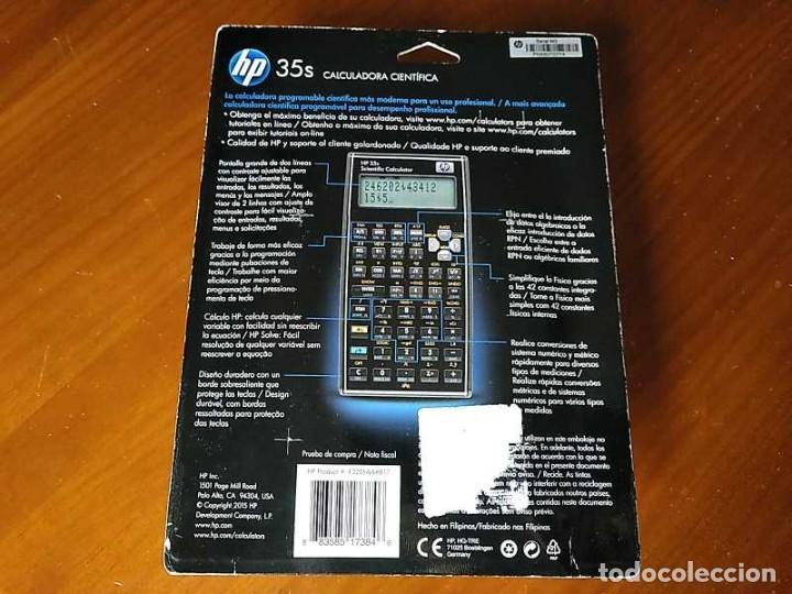 Antigüedades: HP 35S RPN CALCULADORA CIENTÍFICA HEWLETT PACKARD HP-35S PROGRAMABLE EN BLISTER SIN ABRIR SCIENTIFIC - Foto 54 - 268752579