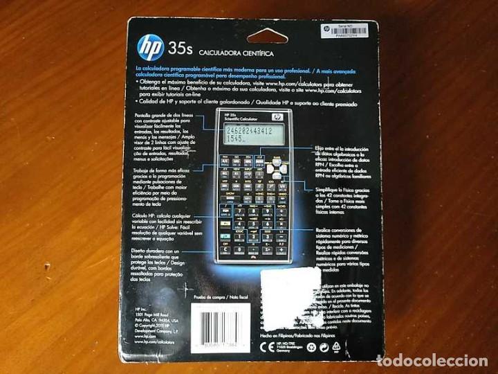 Antigüedades: HP 35S RPN CALCULADORA CIENTÍFICA HEWLETT PACKARD HP-35S PROGRAMABLE EN BLISTER SIN ABRIR SCIENTIFIC - Foto 61 - 268752579