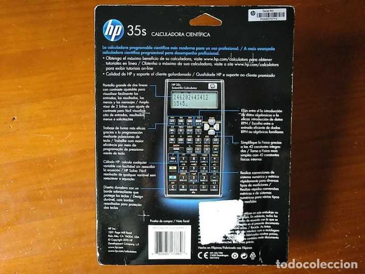 Antigüedades: HP 35S RPN CALCULADORA CIENTÍFICA HEWLETT PACKARD HP-35S PROGRAMABLE EN BLISTER SIN ABRIR SCIENTIFIC - Foto 66 - 268752579