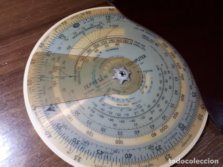 Antigüedades: ANTIGUA REGLA CÁLCULO DE AVIACIÓN JEPPESEN COMPUTER CR3 - Foto 2 - 268807754