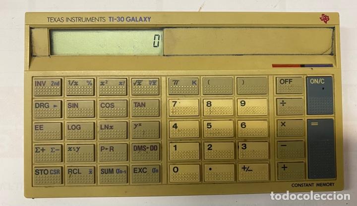 TEXAS INSTRUMENTS 1984 (Antigüedades - Técnicas - Aparatos de Cálculo - Calculadoras Antiguas)