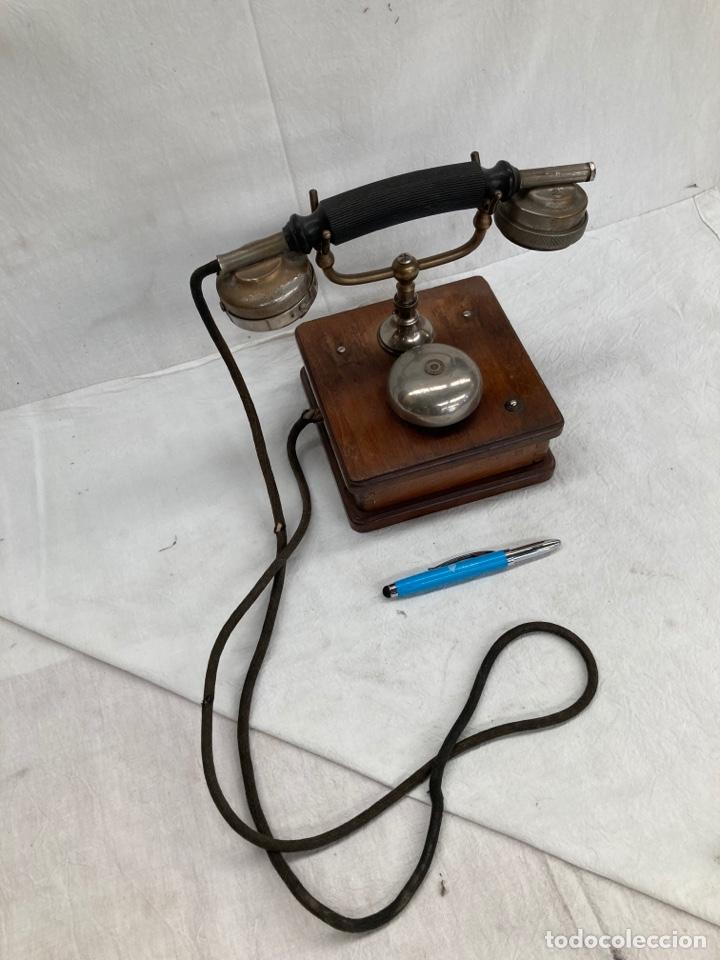 ANTIGUO Y PRECIOSO TELEFONO,SIGLO 19!MADERA! (Antigüedades - Técnicas - Teléfonos Antiguos)