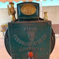 Antigüedades: CONTADOR GAS PARA 3 MECHEROS HIJOS DE FEDERICO CIERVO. Lote 268866269