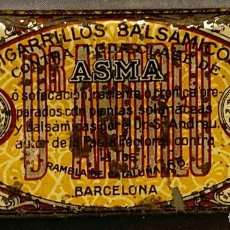 Antigüedades: CAJA METÁLICA. CIGARRILLOS DR.ANDREU, BARCELONA, DESDE 1876. Lote 268923154