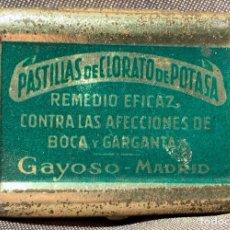 Antigüedades: CAJITA DE LATA DE CLORATO DE POTASA GAYOSO. MADRID, AÑOS 30. Lote 268924454
