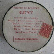 Antigüedades: ANTIGUA CAJA DE POLVOS DE BELLEZA GENI SIN ESTRENAR AÑOS 1920. Lote 268933294