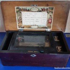 Antigüedades: (ANT-210607)ANTIGUA CAJA DE MÚSICA, 1880, 6 MELODÍAS, SUIZA, FUNCIONANDO, NUMEREDA.. Lote 268970074