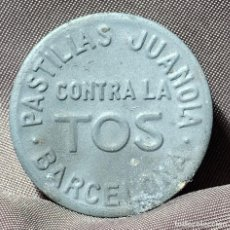 Antigüedades: CAJA METÁLICA DE PASTILLAS JUANOLA. BARCELONA, A PARTIR DE 1912. Lote 268873424
