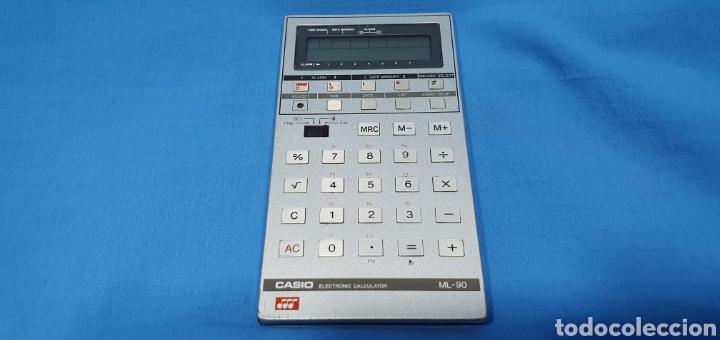 CALCULADORA DIGITAL CASIO ML-90 - NO FUNCIONA (Antigüedades - Técnicas - Aparatos de Cálculo - Calculadoras Antiguas)