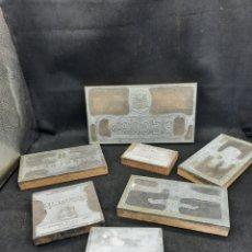 Antigüedades: LOTE DE CUÑOS GRANDES DE IMPRENTA. Lote 269108468