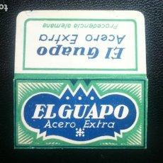 Antigüedades: HOJA DE AFEITAR - CUCHILLA DE AFEITAR - EL GUAPO - NUEVA CON SU HOJA. Lote 269202453