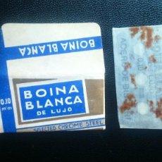 Antiquités: HOJA DE AFEITAR - CUCHILLA DE AFEITAR - BOINA BLANCA - NUEVA CON SU HOJA. Lote 269203868