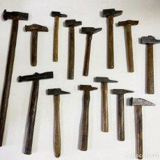 Antigüedades: LOTE DE 14 MARTILLOS ANTIGUOS. Lote 269210343