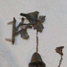 Antigüedades: IMPRESIONANTE LLAMADOR DE HIERRO FUNDIDO O BRONCE CON TODO TIPO DE DETALLES. Lote 269210783