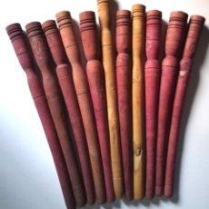 Antigüedades: COLECCIÓN 11 BOLILLOS ANTIGUOS TODOS DIFERENTES MADERA DE BOJ. Lote 269212023