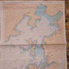 Antigüedades: ANTIGUA CARTA NAUTICA DE LA RIA DE AROSA. 415C GRAN TAMAÑO. Lote 269225973