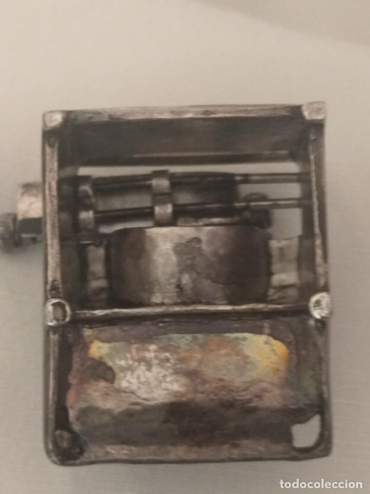 Antigüedades: MAQUINA DE ESCRIBIR EN MINIATURA CON BAÑO DE PLATA. - Foto 4 - 269305008