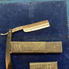 Antigüedades: ANTIGUA NAVAJA DE BARBERO GUILLERMO HOPPE SOLINGEN VENDIDA EN LA CUCHILLERIA MERINO DE IGUALADA. Lote 269379333