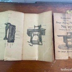Antigüedades: MAQUINA DE COSER SINGER DE 1904 MODELO 27-4. Lote 269439108