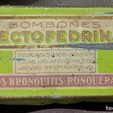 Antiquités: CAJA METÁLICA. BOMBONES DE PECTOFEDRINA. LAB. FORTEA. MONCADA, VALENCIA, AÑOS 30. Lote 269472508