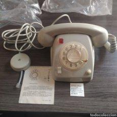 Telefones: TELÉFONO CITESA PILOTO ROJO TECLA DE PASO Y BOTÓN GRIS NUEVO CAJA ORIGINAL. Lote 269697588