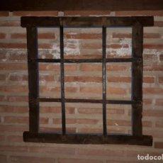 Antigüedades: MUY BONITA Y ANTIGUA REJA DE HIERRO FORJADO. Lote 269703783