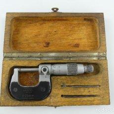 Antigüedades: MICRÓMETRO 0 - 25 MM HERRAMIENTA PROFESIONAL DE PRECISIÓN MARCA TESA CAJA ORIGINAL. Lote 269710888