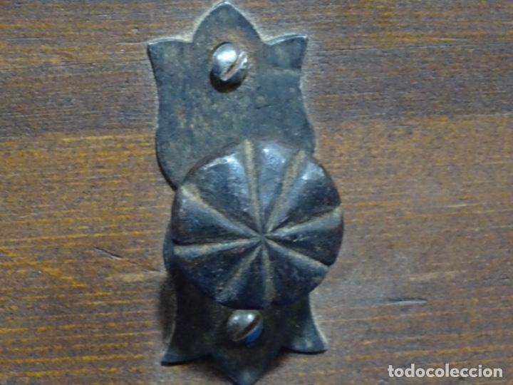 Antigüedades: LOTE DE ANTIGUA ALDABA, CERROJO, 20 LLAVES ETC. EN FORJA SOBRE SIGLO XVI (EPOCA GÓTICA ?) - Foto 7 - 269740408