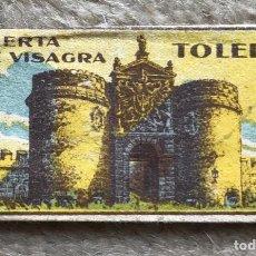 Antigüedades: SOBRECITO CON HOJA DE AFEITAR - PUERTA DE VISAGRA (TOLEDO) - BARBERÍA. Lote 269817673