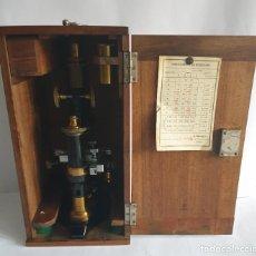 Antigüedades: ANTIGUO MICROSCOPIO NACHET A PARIS CON MUESTRAS DE 1878. Lote 269829503