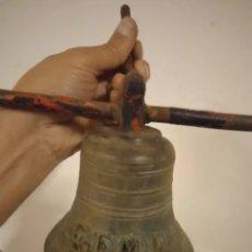Antigüedades: ANTIGUA CAMPANA NAVAL DE BRONCE DE BARCO SIGLO XIX. Lote 269846603