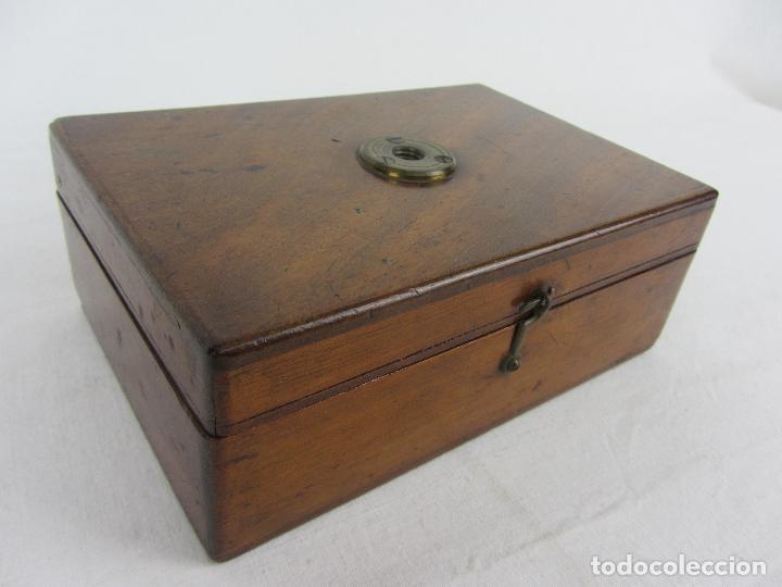 Antigüedades: Microscopio inglés de campo, para botánica o entomoligía. hacia 1840 - 1860 - Foto 15 - 269962143