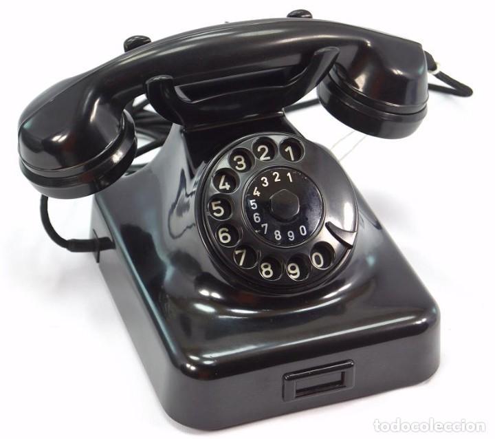 Teléfonos: Teléfono de Baquelita Marca W-48 -Totalmente restaurado funcionando -68965/4 - Agosto 1955 - Foto 2 - 270355933