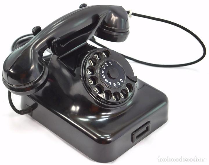 Teléfonos: Teléfono de Baquelita Marca W-48 -Totalmente restaurado funcionando -68965/4 - Agosto 1955 - Foto 4 - 270355933