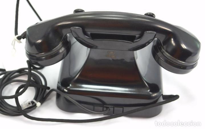 Teléfonos: Teléfono de Baquelita Marca W-48 -Totalmente restaurado funcionando -68965/4 - Agosto 1955 - Foto 5 - 270355933