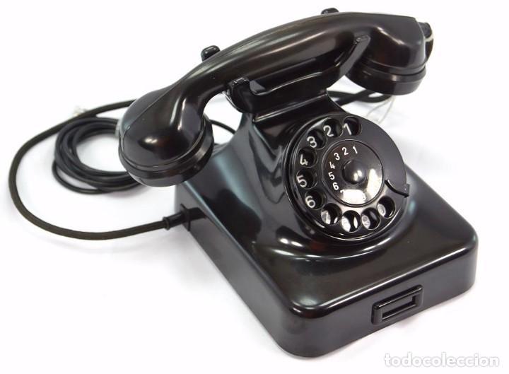 Teléfonos: Teléfono de Baquelita Marca W-48 -Totalmente restaurado funcionando 68965/7 - Año 1960 - Foto 2 - 270362258