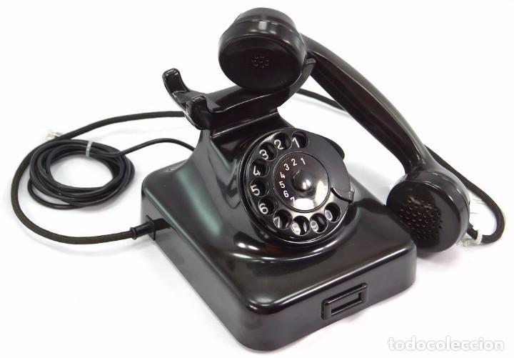 Teléfonos: Teléfono de Baquelita Marca W-48 -Totalmente restaurado funcionando 68965/7 - Año 1960 - Foto 3 - 270362258