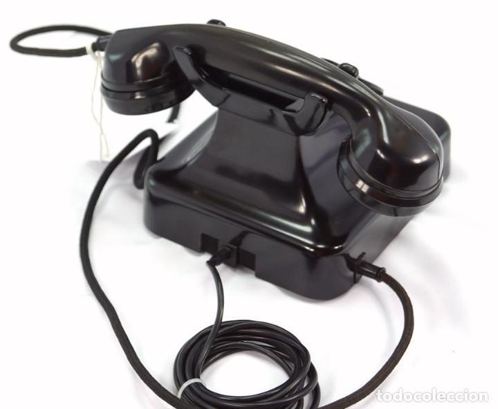 Teléfonos: Teléfono de Baquelita Marca W-48 -Totalmente restaurado funcionando 68965/7 - Año 1960 - Foto 4 - 270362258