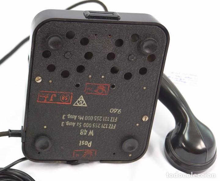 Teléfonos: Teléfono de Baquelita Marca W-48 -Totalmente restaurado funcionando 68965/7 - Año 1960 - Foto 5 - 270362258