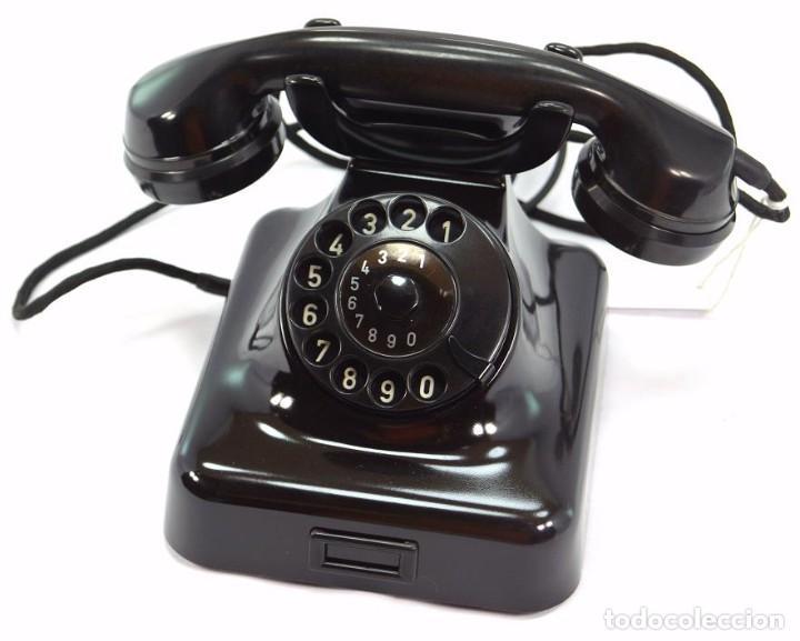 TELÉFONO DE BAQUELITA MARCA W-48 -TOTALMENTE RESTAURADO FUNCIONANDO - 68965/6 - NOVIEMBRE 1959 (Antigüedades - Técnicas - Teléfonos Antiguos)