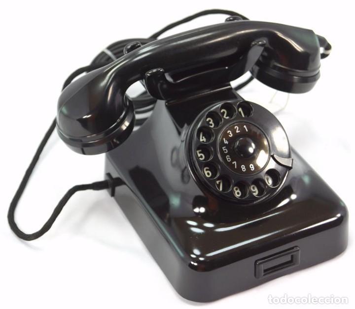 Teléfonos: Teléfono de Baquelita Marca W-48 -Totalmente restaurado funcionando - 68965/6 - Noviembre 1959 - Foto 3 - 270363708