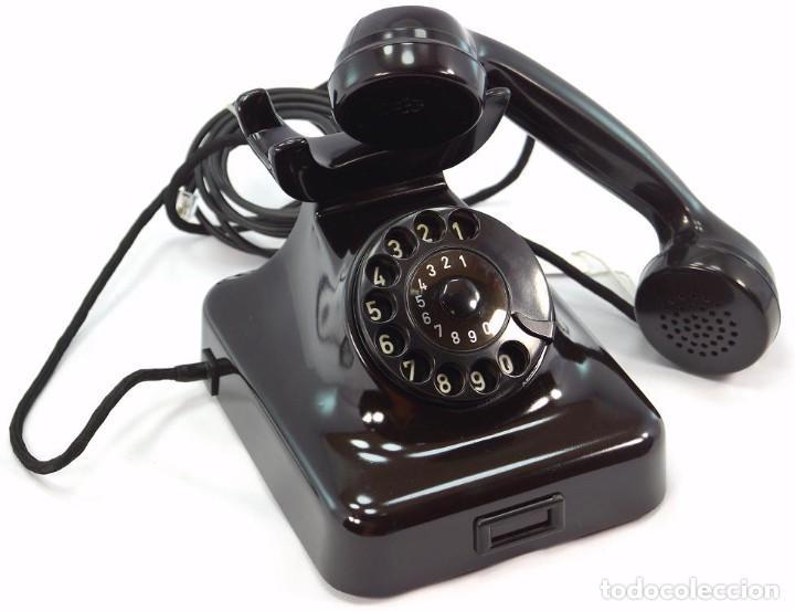 Teléfonos: Teléfono de Baquelita Marca W-48 -Totalmente restaurado funcionando - 68965/6 - Noviembre 1959 - Foto 4 - 270363708