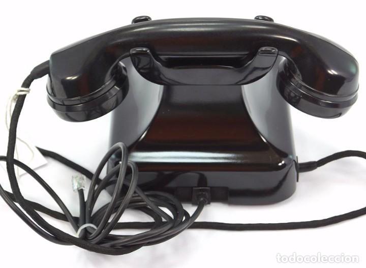 Teléfonos: Teléfono de Baquelita Marca W-48 -Totalmente restaurado funcionando - 68965/6 - Noviembre 1959 - Foto 5 - 270363708