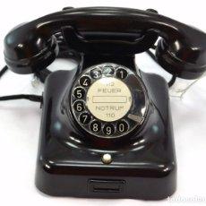 Teléfonos: TELÉFONO DE BAQUELITA MARCA W-48 -TOTALMENTE RESTAURADO FUNCIONANDO - 68965/8 - JUNIO 1957. Lote 270364273