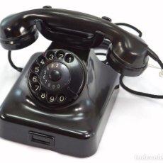 Teléfonos: TELÉFONO DE BAQUELITA MARCA W-48 -TOTALMENTE RESTAURADO FUNCIONANDO - 68965/9 - AGOSTO 1954. Lote 270364628