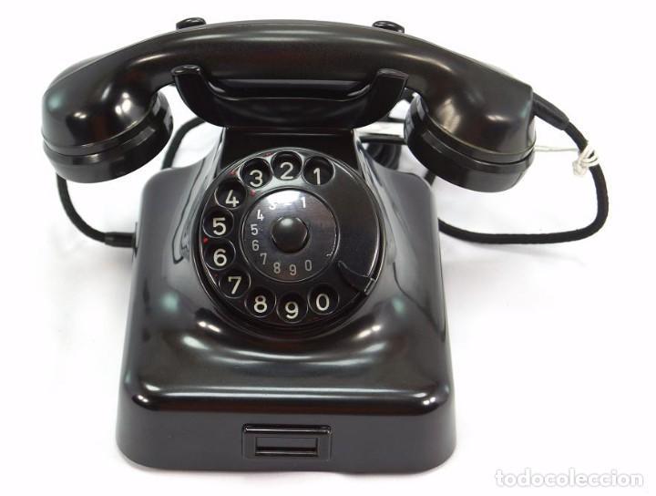 Teléfonos: Teléfono de Baquelita Marca W-48 -Totalmente restaurado funcionando - 68965/9 - Agosto 1954 - Foto 2 - 270364628